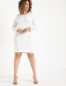 Pearl Cuff Dress True White