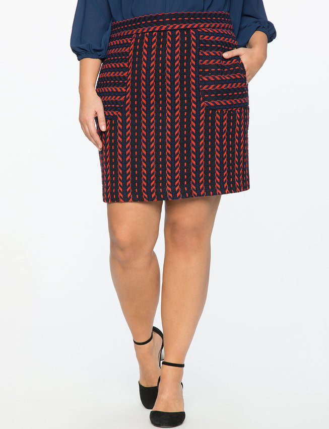 Textured Patch Pocket Mini Skirt