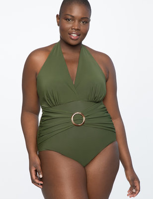 Halter Tie Neck Swimsuit