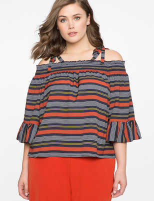 Smocked Neck Off the Shoulder Top