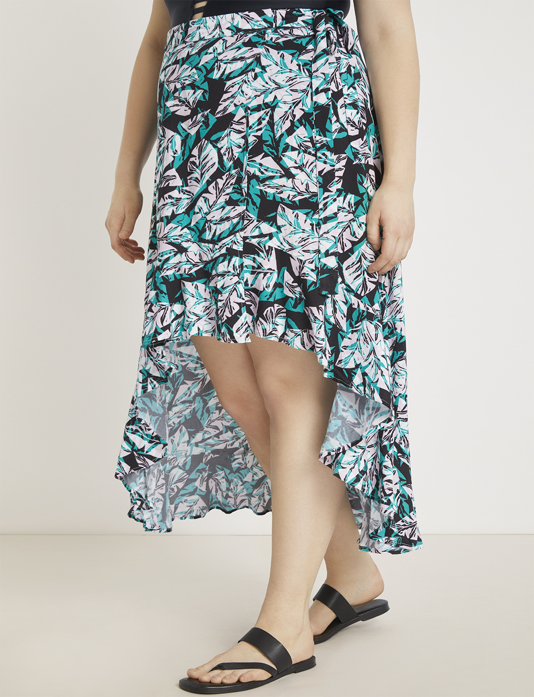 High Low Wrap Skirt Coverup
