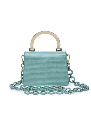 Metal Handle Bag with Resin Chain