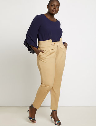 Cinched Waist Trouser