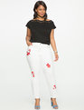 Studio Embroidered Jeans White