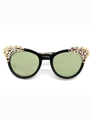 Embellished Cat Eye Sunglasses