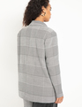 Oversized Houndstooth Blazer Black + White Houndstooth