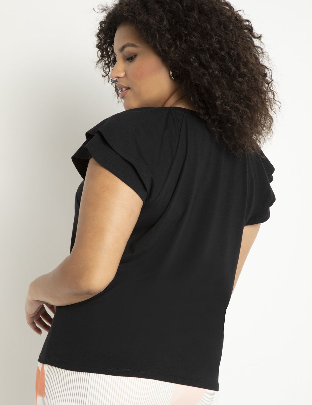 Ruffle Shoulder Tee