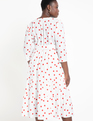 Puff Sleeve Dress with Tiered Skirt Galentine