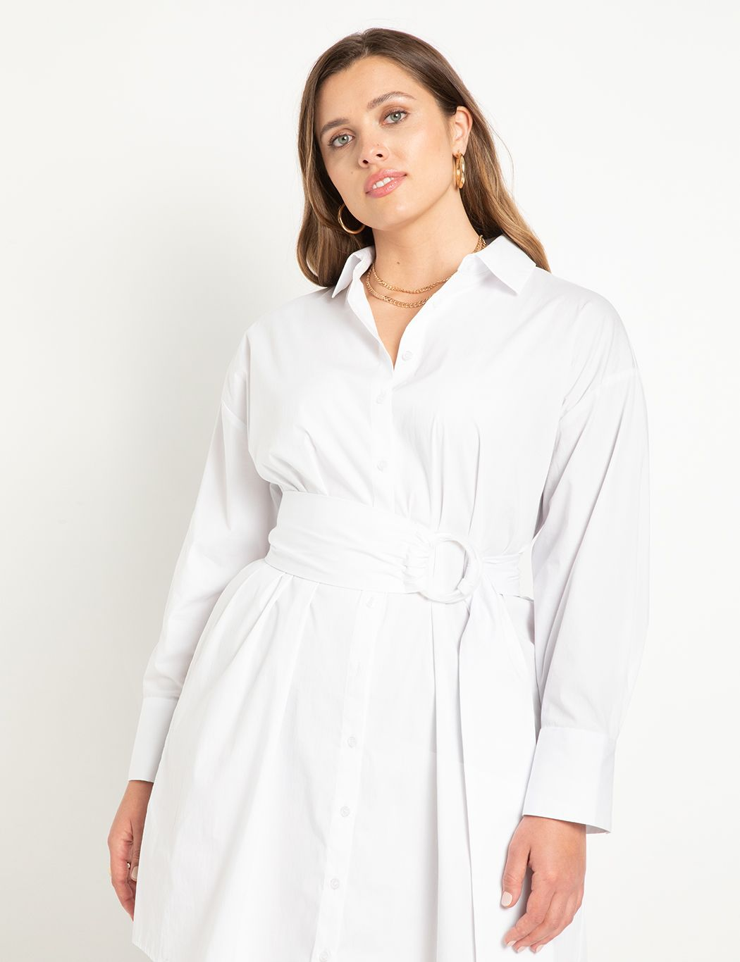 Relaxed Shirtdress with Belt