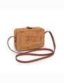 Rectangle Rattan Shoulder Bag Natural