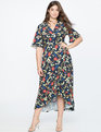 High Low Wrap Dress New Blooms
