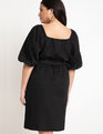 Optional Off-the-Shoulder Wrap Dress Black