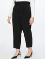 Belted Paperbag Waist Pant Totally Black