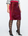 Sequin Front Pencil Skirt Red + Hot Pink