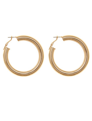 Oversized Rounded Hoop Earrings