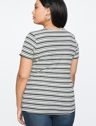 Hook and Eye Scoop Neck Tee