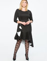 Bonded Scuba Knit Cascading Ruffle Dress