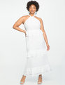 Studio Flounce Tiered Dress White
