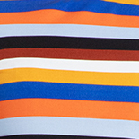 Blue + Orange Stripe