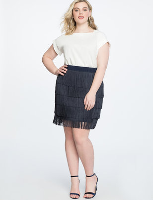 Fringe Mini Skirt