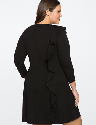Side Ruffle Detail Dress