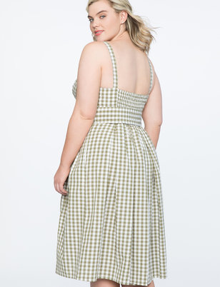 Gingham Bustier Bodice Dress