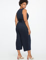 Cropped Wide Leg Jumpsuit DARK NAVY