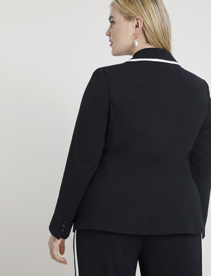 Tailored Blazer with Contrast Trim