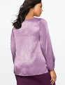 Ruched Sleeve Top Grape Royale