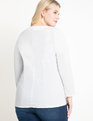 Long Sleeve Wrap Top White