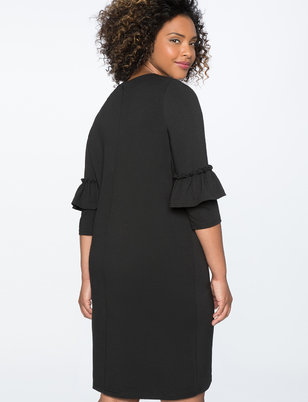 Ruffle Sleeve Essential Tee Dress