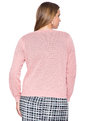 Open Knit Cardigan Pink Sand