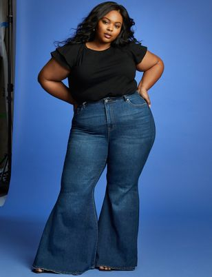 Viola Fit Bell Bottom Flare Leg Jean