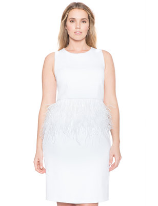 Studio Feather Peplum Dress