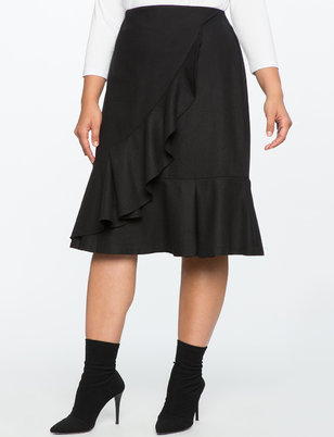 A-Line Skirt with Flounce