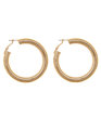 Oversized Rounded Hoops Gold