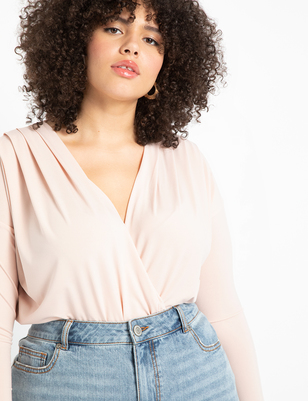 Draped Surplice Bodysuit