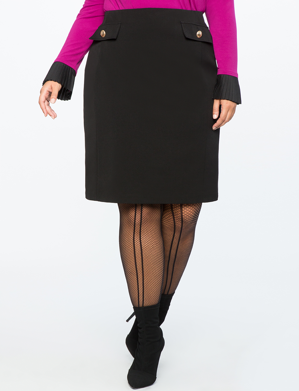 Column Skirt with Pocket Detail