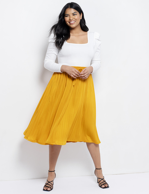 Soft Textured Midi Skirt