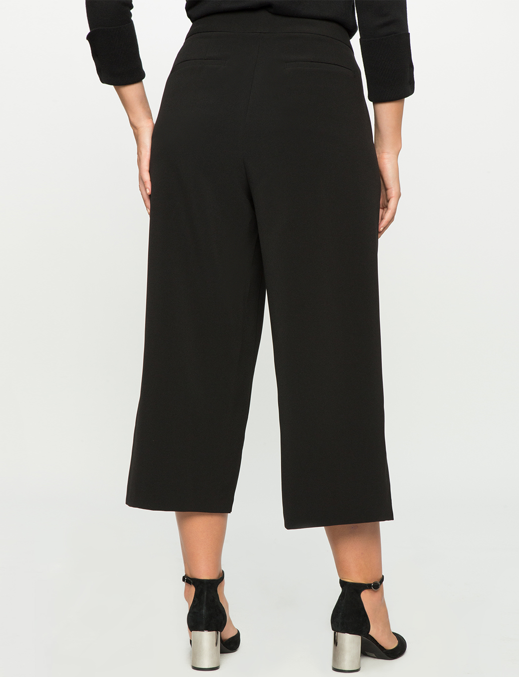 Wide Leg Button Culottes