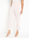 Satin Pant with Patch Pockets Blush