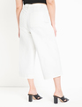 Cropped Wide Leg Jean White