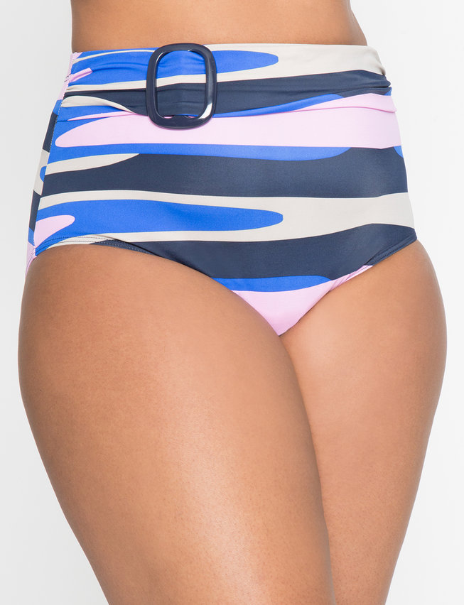 High Waist Belted Bikini Bottom