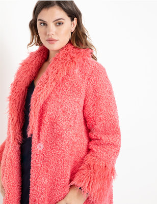 Drama Faux Fur Coat