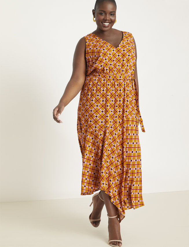 Asymmetrical Hem Maxi Dress