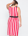 Sleeveless Striped Dress  Lollipop and White Stripe