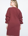 Puff Sleeve Easy Tee Dress Oxblood