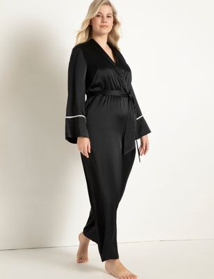 Piping Trimmed Lounge Jumpsuit