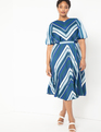 Puff Sleeve Striped Dress CHREVRON AND ON