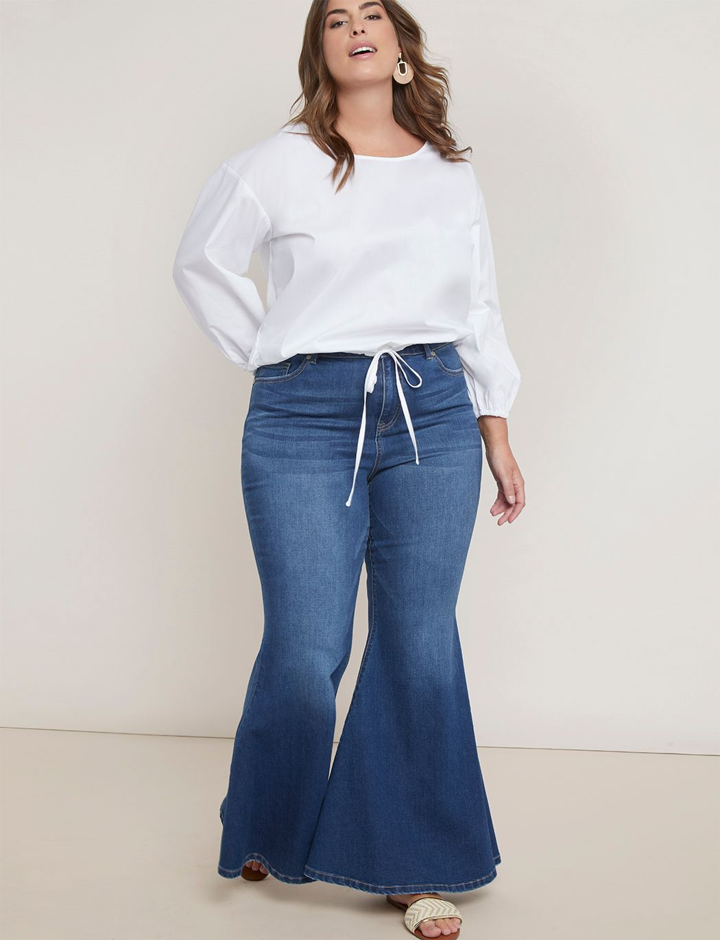 Gena Fit Bell Bottom Flare Leg Jean